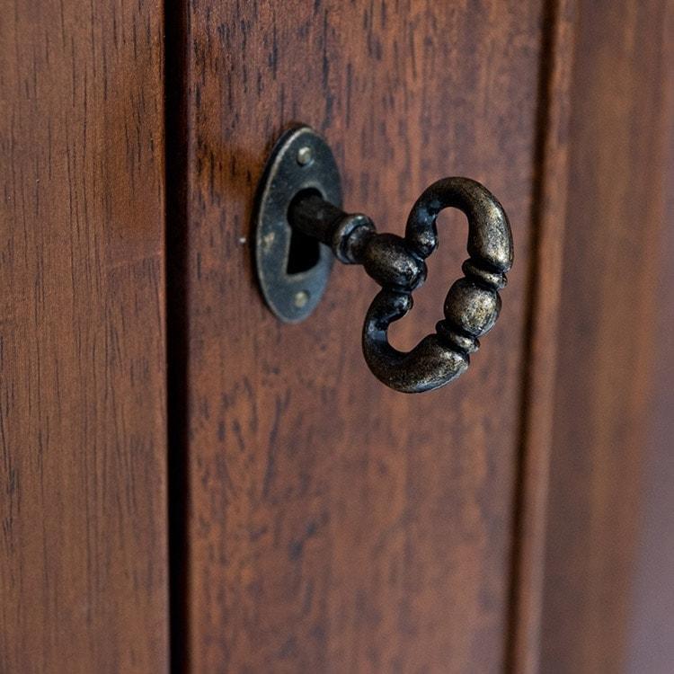 Antoinette dark mahogany tall 6 drawer side