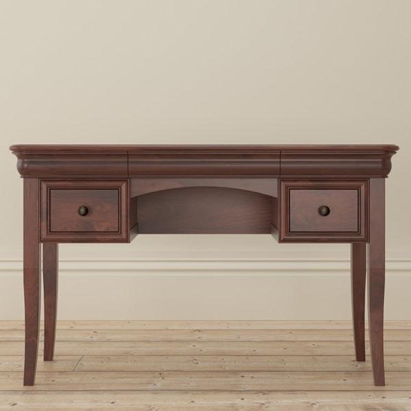 Antoinette dark mahogany dressing table front