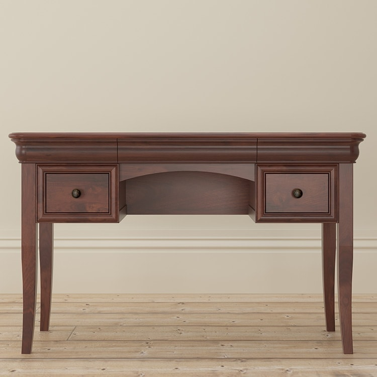 Antoinette dark mahogany dressing table front
